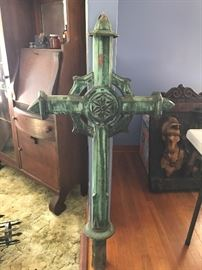 1857 Copper Cross from Orthodox Church