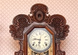 BUY IT NOW! Lot # 101, Hand Carved Wood 31 Day Shelf / Mantle Gingerbread Clock, $200