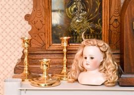 SOLD--Lot # 239, Porcelain Doll Head, $25