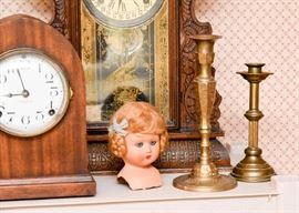 Brass Candlesticks, Doll Head