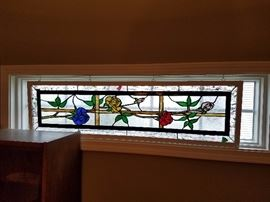 Stain Glass Window Pane -  48 inches by 13.5 inches.