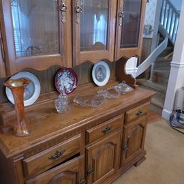 Oak Hutch and dining room set