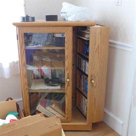Oak CD Library Cabinet