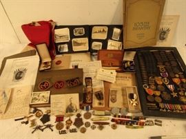 Huge WWI lot from Capt. Frank R. Potter AEF with gold medals, photos, sword, much more.