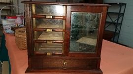 Much antiques and primitives. Leonard Silk Co. cabinet very, very unique!!