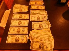 Silver Certificate bills