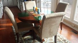 Dining Table with 4 Fabric Chairs