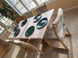 Dining set with 6 chairs - Corian top