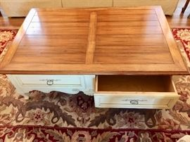 Ethan Allen coffee table with drawers!