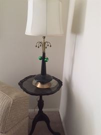 Lamp on matching round end table