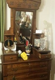 East Lake dresser with mirror, accessories