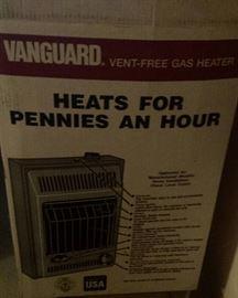 Vanguard gas heater