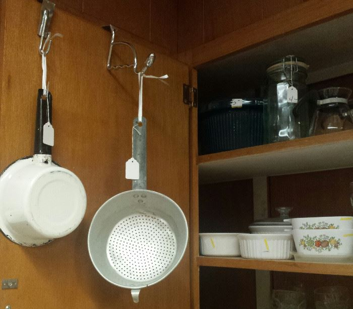 corning, pots and pans