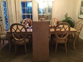 Beautiful Wood table seats (12) purchased Robb & Stucky