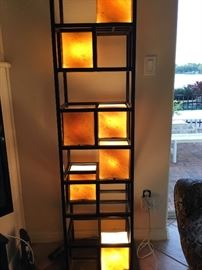 Beautiful contemporary statement piece. Great accent lamp in any home or office.