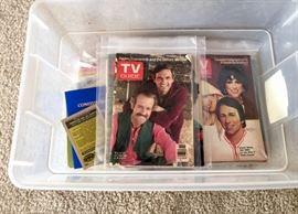 Lots of vintage T.V. Guides