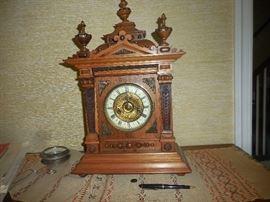 Ornate Mantle or Shelf Clock