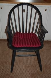 Windsor black arm chairs
