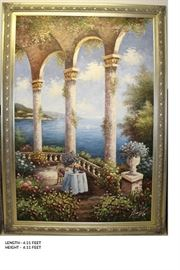 Oil Painting of a Scenic View