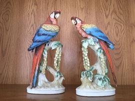 Pair of Lefton macaws