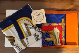 Hermes silk scarves