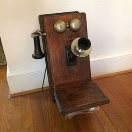Original,  1800's Antique telephone with crank.