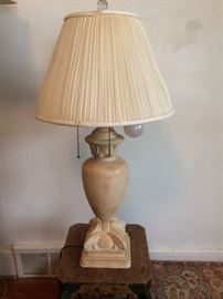 Heavy marble 2 light Table lamp