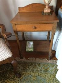Antique walnut bedside table