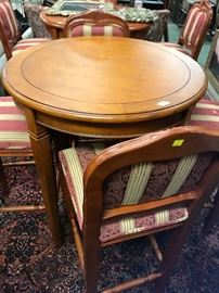 we have 5 sets table and chairs