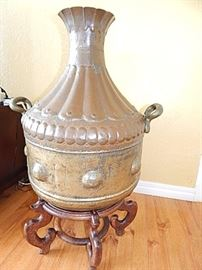 Egyptian Brass & Copper Urn