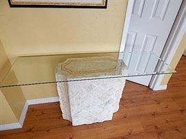 Stone Base Entrance Table