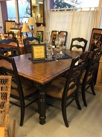 Last chance for this beautiful table with leaf and 6 chairs