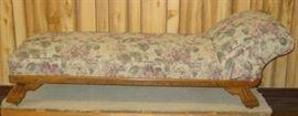 Oak Fainting Couch