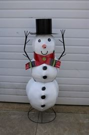 Large Metal Snowman