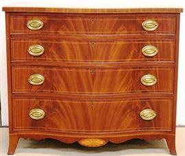 Flaming mahogany chest by Biggs
