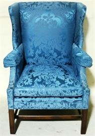 brocade upholstered chair by sherrill