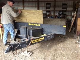 Pequea 18' flat bed trailer. 10,000 lb capacity with attached ramps see all the pictures