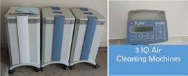 3 Air IQ Air cleaning machines