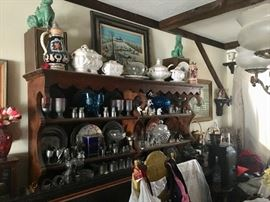 Dining room furniture & collectibles