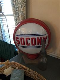 Socony Oil Pump Glass Globe