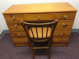 Nice six drawer desk with chair