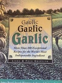 Their book Garlic of which we have multiple (hopefully signed by them this week) copies
