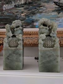 Jade Foo Dog Book Ends