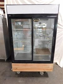 2 Door Glass Merchandiser Commercial Refrigerator