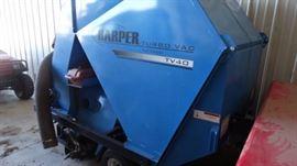 Harper turbo vac turf sweeper tv40. Brush on hydra ...