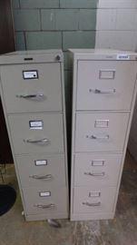 2 4-Drawer file cabinet.
