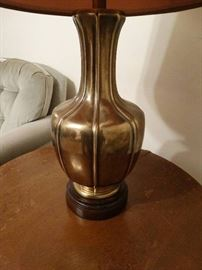 Brass 3 way lamp w/ shade