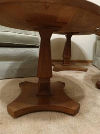 3 matching mid century wood end tables