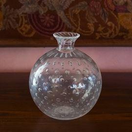ITALIAN MURANO GLASS SEGUSO CONTROLLED BUBBLE VASE