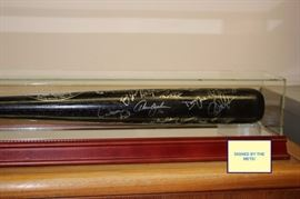 Black Bat Signed By Mets
